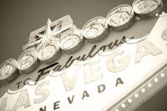 Las Vegas välkomnande Arkivbild