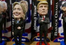 Las Vegas, 5 V.S.-Januari, 2017: Bobbleheads van voorzitters en kandidaten stock fotografie