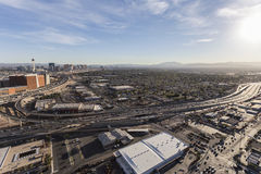 Las Vegas Valley Aerial royalty free stock photography