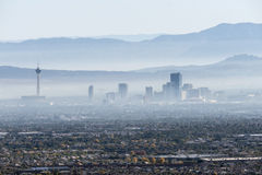Las Vegas Valley Haze Stock Image