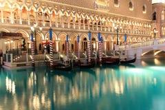 Las Vegas veneciano en la noche Imágenes de archivo libres de regalías