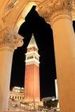 Las Vegas veneciano en la noche Fotografía de archivo