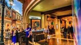 Las Vegas Venetian kasino arkivbilder