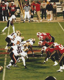 Las Vegas verbant v Orlando Rage, XFL-Voetbal (2001) Royalty-vrije Stock Afbeeldingen