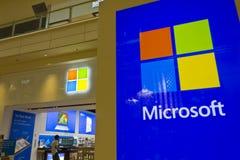 Las Vegas - vers en juillet 2016 : Emplacement III de mail de magasin de technologie de vente au détail de Microsoft Image libre de droits