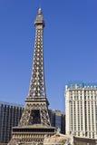 Las Vegas - vers en juillet 2016 : Extérieur de Paris Las Vegas Avec Tour Eiffel réduit de moitié IV Image libre de droits