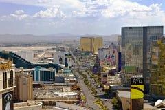 Las Vegas - vers en juillet 2016 : Vue d'AAerial de la bande de Las Vegas, semblant du sud vers l'aéroport I Images stock