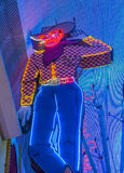 The Las Vegas Vic. LAS VEGAS - JULY 04 : The Las Vegas Vic cowboy neon at the former Pioneer Casino on July 04 , 2016 in Las Vegas Fremont street. The classic Royalty Free Stock Photos