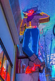 The Las Vegas Vic. LAS VEGAS - JULY 04 : The Las Vegas Vic cowboy neon at the former Pioneer Casino on July 04 , 2016 in Las Vegas Fremont street. The classic Stock Images