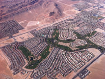 Las Vegas view from the air. Royalty Free Stock Photo