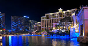 Las Vegas. A view of the Cosmopolitan, Bellagio, and Caesars Palace in Las Vegas royalty free stock photo