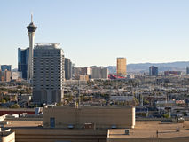 Las Vegas View Day. Las Vegas, Nevada, USA - August 16, 2011:  Stratosphere, Circus Circus, Trump Tower and other Las Vegas resorts in late afternoon light Royalty Free Stock Photo