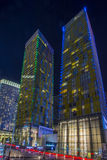 Las Vegas vira torres Imagen de archivo libre de regalías