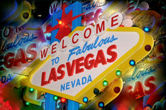 Las Vegas välkomnande Royaltyfria Bilder