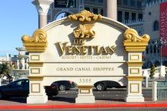 Las Vegas vénitien, Las Vegas, nanovolt Photos stock