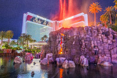 Las Vegas  Volcano Stock Images