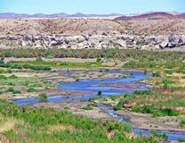 Las Vegas Wash som bär behandlat förlorat vatten till La Royaltyfria Bilder