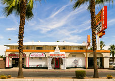 Las Vegas Wedding. Las Vegas, USA - June 2, 2014: The Little Vegas (Wedding-) Chapel at South Las Vegas Boulevard. Famous also for Elvis Weddings and themed stock photos