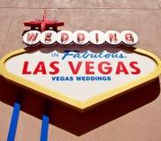 Las Vegas Weddings. The sign Weddings in fabulous Las Vegas Royalty Free Stock Image