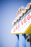 Las vegas welcome. Sign with sky and palm tree in background Royalty Free Stock Photography