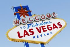 Las Vegas Welcome Road Sign Royalty Free Stock Photos