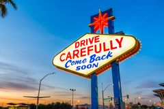 Free Las Vegas Welcome Sign Royalty Free Stock Photo - 149286745