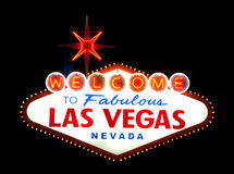 Las Vegas Welcome sign Stock Images
