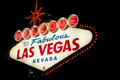 Las vegas welcome sign Stock Photography