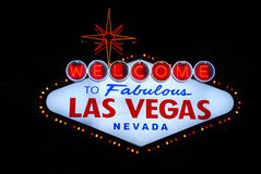 Las Vegas welcome sign Royalty Free Stock Image