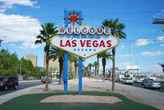 Las Vegas Welcome Sign Royalty Free Stock Images