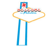 Las Vegas Welcome Sign stock illustration