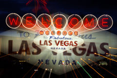Las Vegas Welcome sign Royalty Free Stock Photos