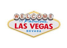 Las Vegas Welcome Sign Diamond Isolated royalty free stock image