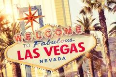 Las Vegas Welcome Stock Photo