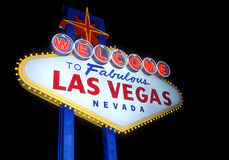 Las Vegas. Welcome to Las Vegas sign isolated Stock Image