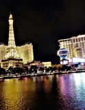 Las Vegas wieża eifla obrazy royalty free