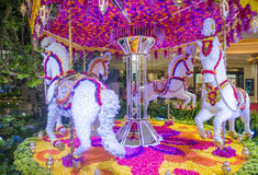 Las Vegas Wynn hotel flower installation Royalty Free Stock Photos