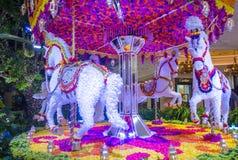 Las Vegas Wynn hotel flower installation Royalty Free Stock Images