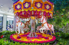 Las Vegas Wynn hotel flower installation Stock Images