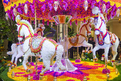 Las Vegas Wynn hotel flower installation Royalty Free Stock Photo