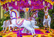Las Vegas Wynn hotel flower installation Stock Photos