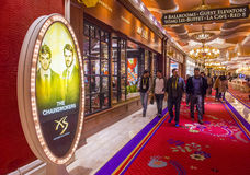 Las Vegas , Wynn hotel. LAS VEGAS - JAN 08 : The interior of Wynn Hotel and casino on January 08, 2017 in Las Vegas. The hotel has 2,716 rooms and opened in 2005 stock image