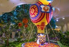 Las Vegas Wynn kwiatu hotelowa instalacja Obraz Stock
