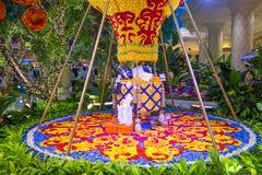 Las Vegas Wynn kwiatu hotelowa instalacja Zdjęcie Stock