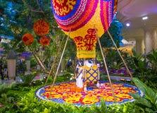 Las Vegas Wynn kwiatu hotelowa instalacja Fotografia Stock