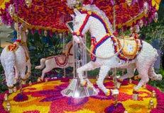 Las Vegas Wynn kwiatu hotelowa instalacja Fotografia Royalty Free