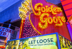 Las Vegas, złota gąska Obrazy Royalty Free