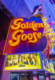 Las Vegas, złota gąska Zdjęcia Royalty Free