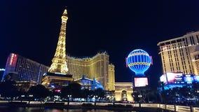 Las Vegas zaświecał w górę nocy przy obraz royalty free