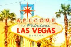 Las Vegas-Zeichen Stockbild